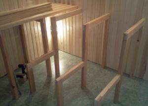 Изготовление и установка полок в сауне