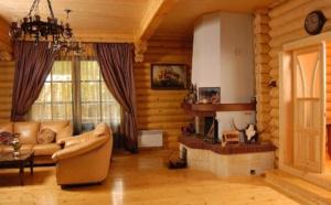 Особенности внутренней отделки деревянного дома